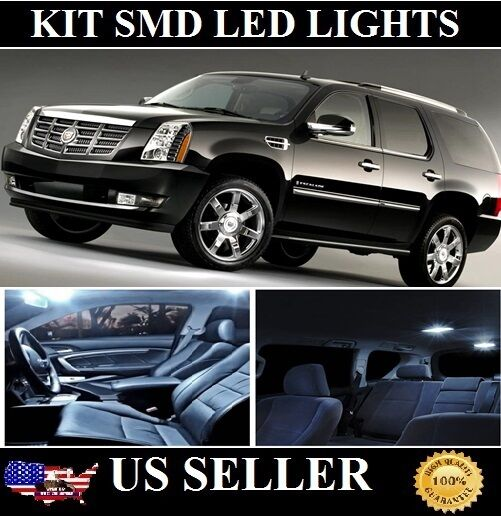 Used Cadillac Escalade Parts For Sale: 22X Premium White LED Lights Interior Package Kit For Cadillac Escalade 07-15
