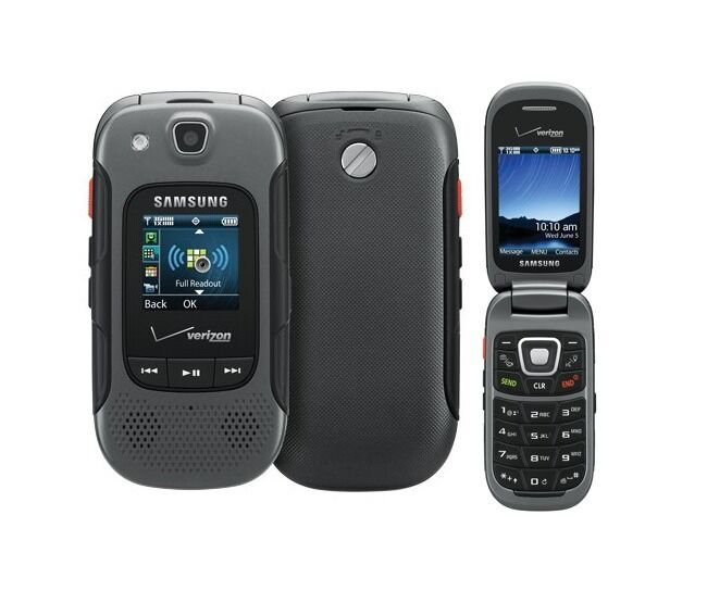 Used samsung convoy 3 u680 verizon feature rugged flip for Rugged cell phones