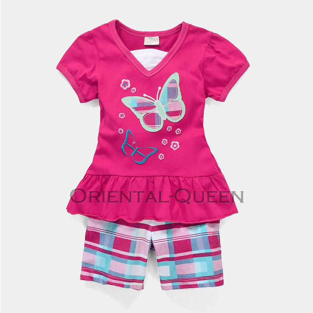 Baby Toddler Children Girls Clothes New Butterfly Tops ...