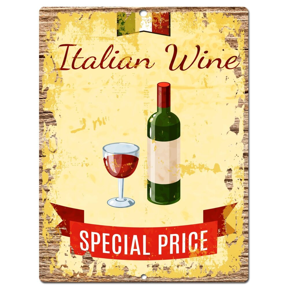 Kitchen Signs Ebay: PP0924 ITALIAN WINE Parking Plate Chic Sign Home