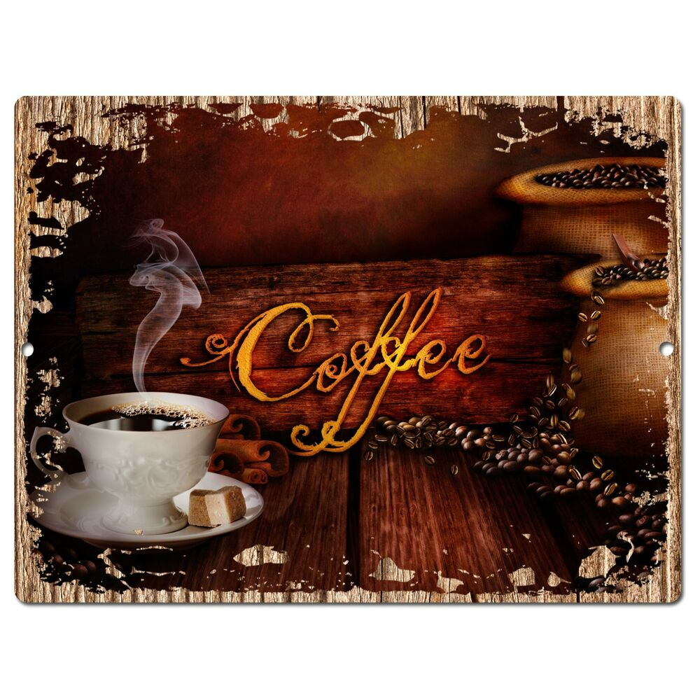 PP0944 COFFEE Parking Plate Chic Sign Home Restaurant Cafe
