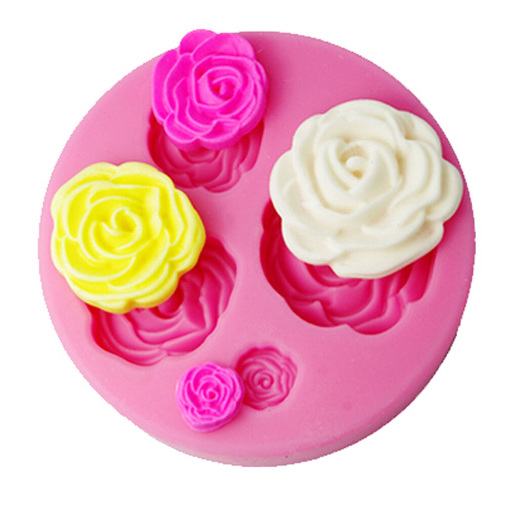 FOUR-C 3D Rose Flower Cake Decorating Tools Cutter Mold ...