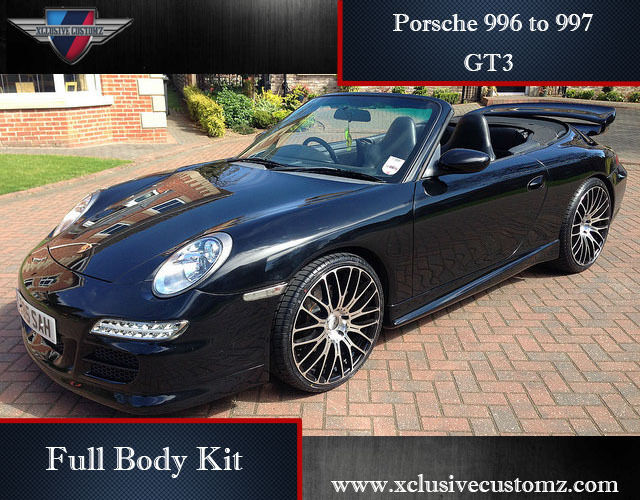 porsche 911 996 to 997 gt3 full body kit conversion ebay. Black Bedroom Furniture Sets. Home Design Ideas