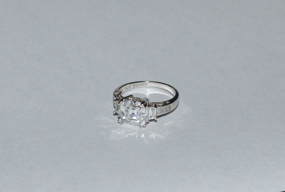 Stauer Sterling Silver And Cubic Zirconia Engagement Ring