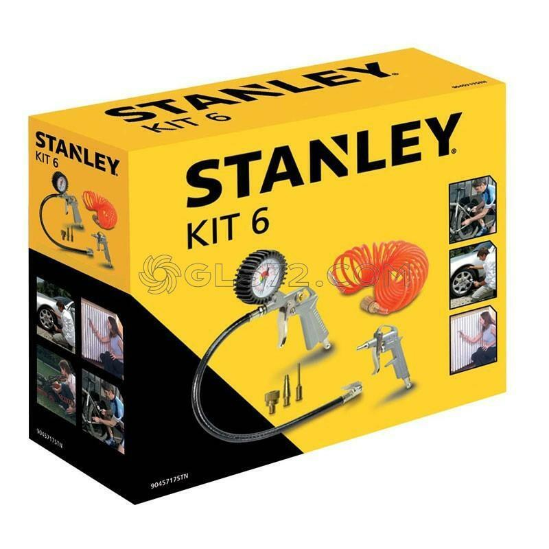 Kit 6 Piece Stanley For Air Compressor And Tool Kit Gun