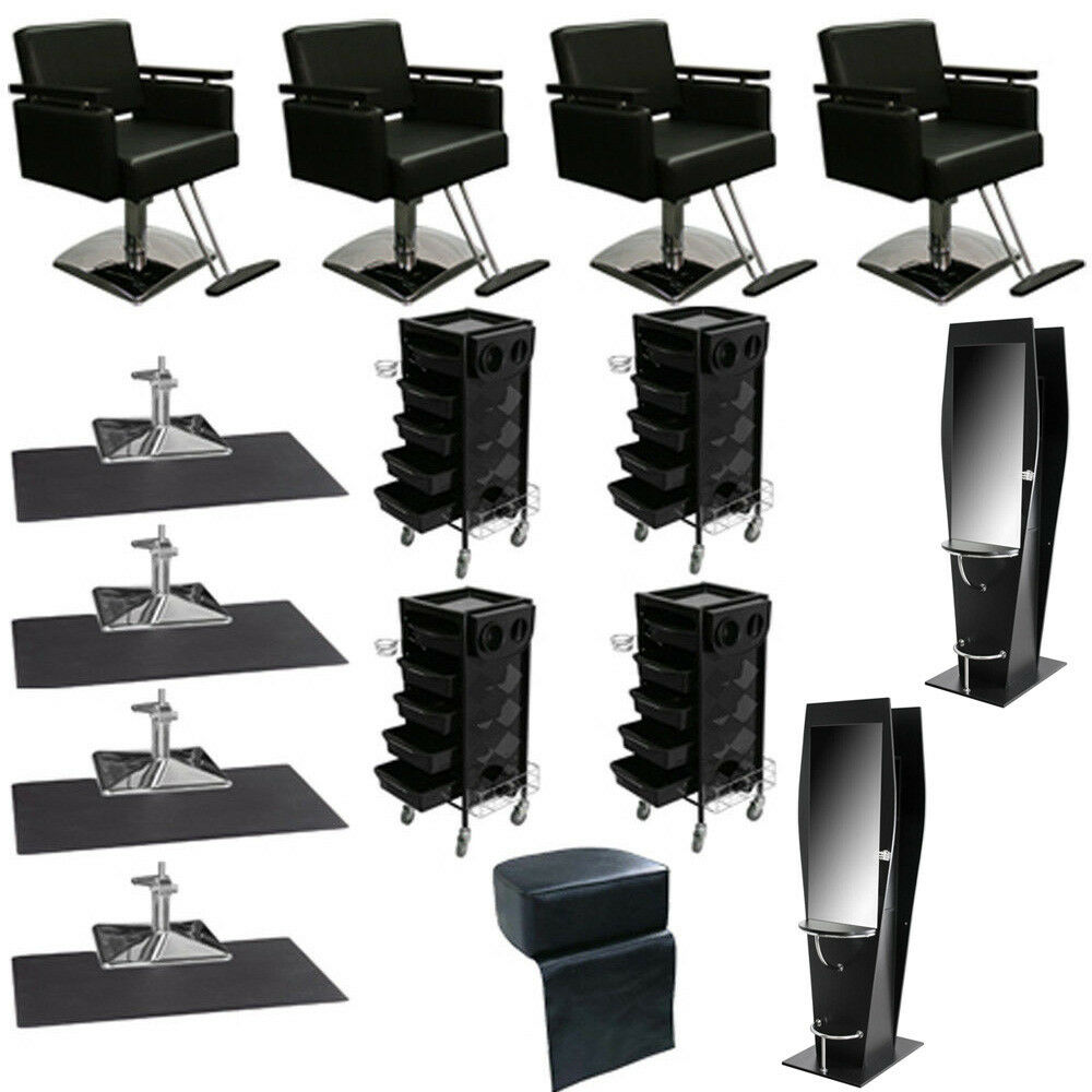 New beauty salon equipment chair styling station trolley for New salon equipment