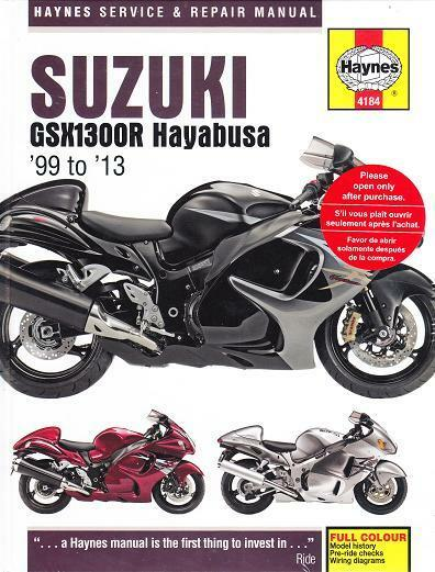 1999 2010 2011 2012 2013 suzuki gsxr1300r hayabusa haynes. Black Bedroom Furniture Sets. Home Design Ideas