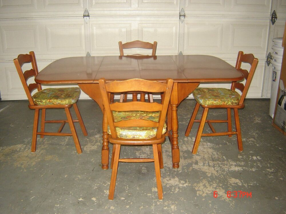 Red Maple Table And Chairs Ebay