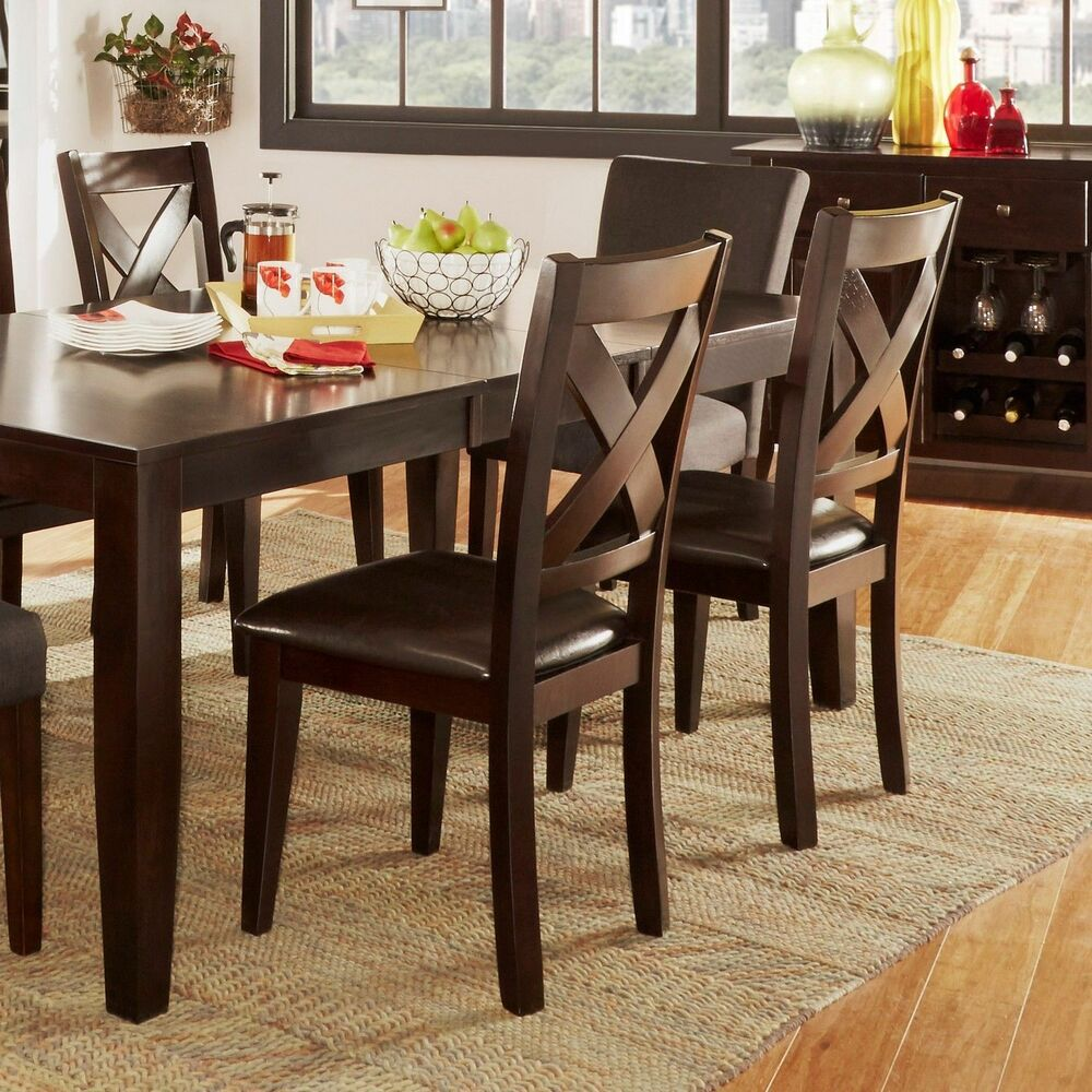 Casual Dining Room Furniture Sets: TRIBECCA HOME Acton Warm Merlot X-back Casual Dining Side