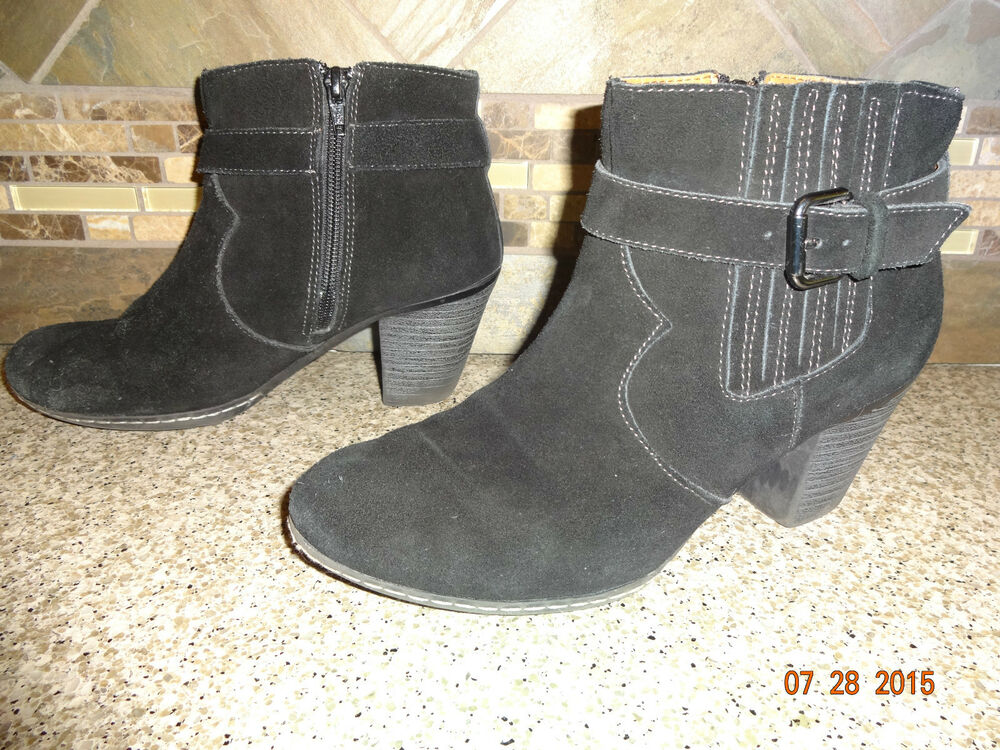 womens g h bass co quot brenna quot sz 8m black suede leather