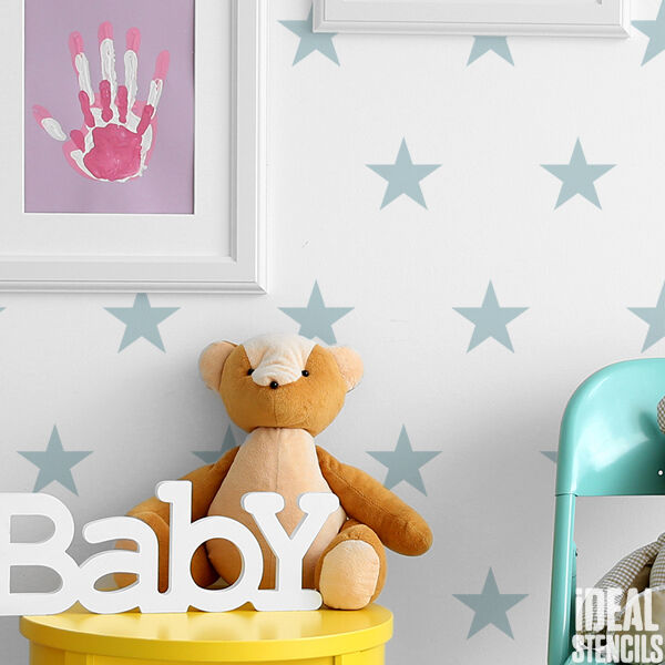star stencil repeat pattern wall stencil craft painting reusable ideal stencils ebay. Black Bedroom Furniture Sets. Home Design Ideas