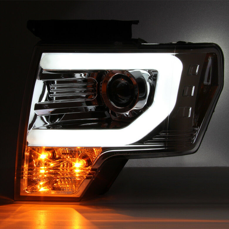 fits 2009 2014 ford f150 f 150 super bright drl led tube. Black Bedroom Furniture Sets. Home Design Ideas