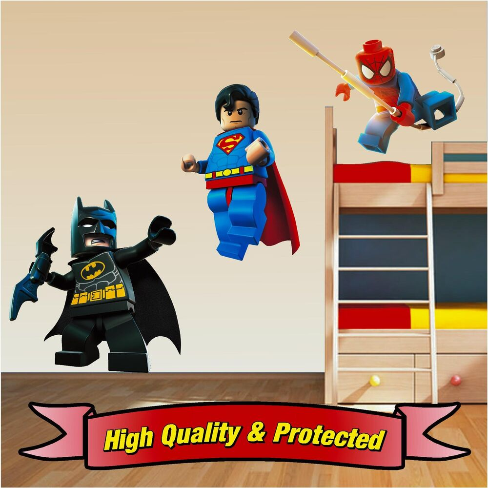 lego superhero set superman spiderman batman wall stickers lego wall stickers www galleryhip com the hippest pics