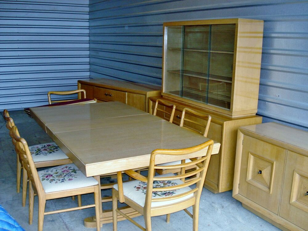 mid century modern furniture 10 pc dining room set ebay