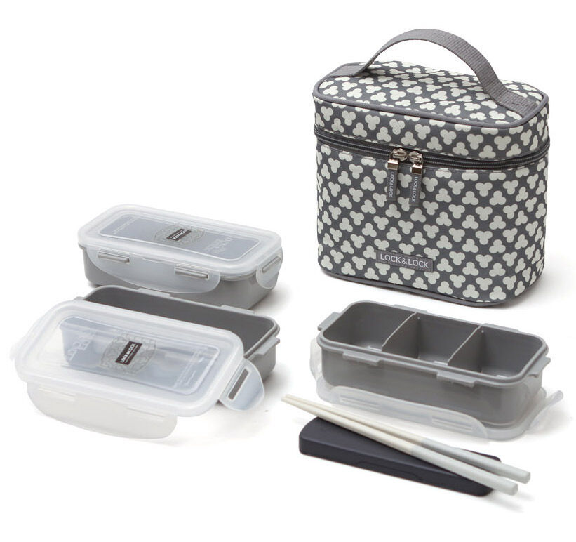Lunch boxes chopstick bento insulated bag food containers for Insulated office