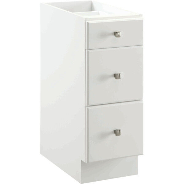 Bathroom vanity drawer base thermofoil cabinet white 12 for 12 inch wide kitchen cabinets