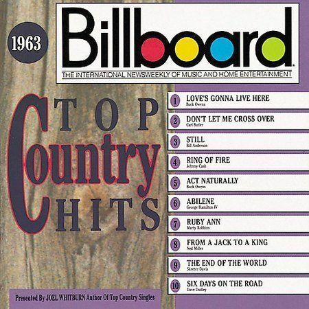 Billboard top country hits 1963 by various artists cd for Best music 1988