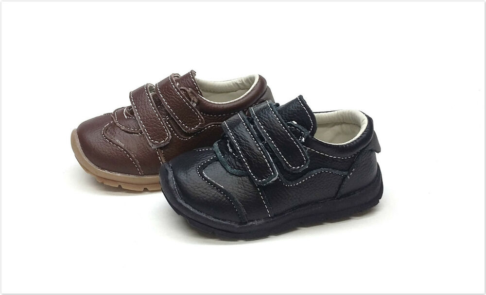 New Genuine Leather Infant Toddler Boy Shoes Size 2 7