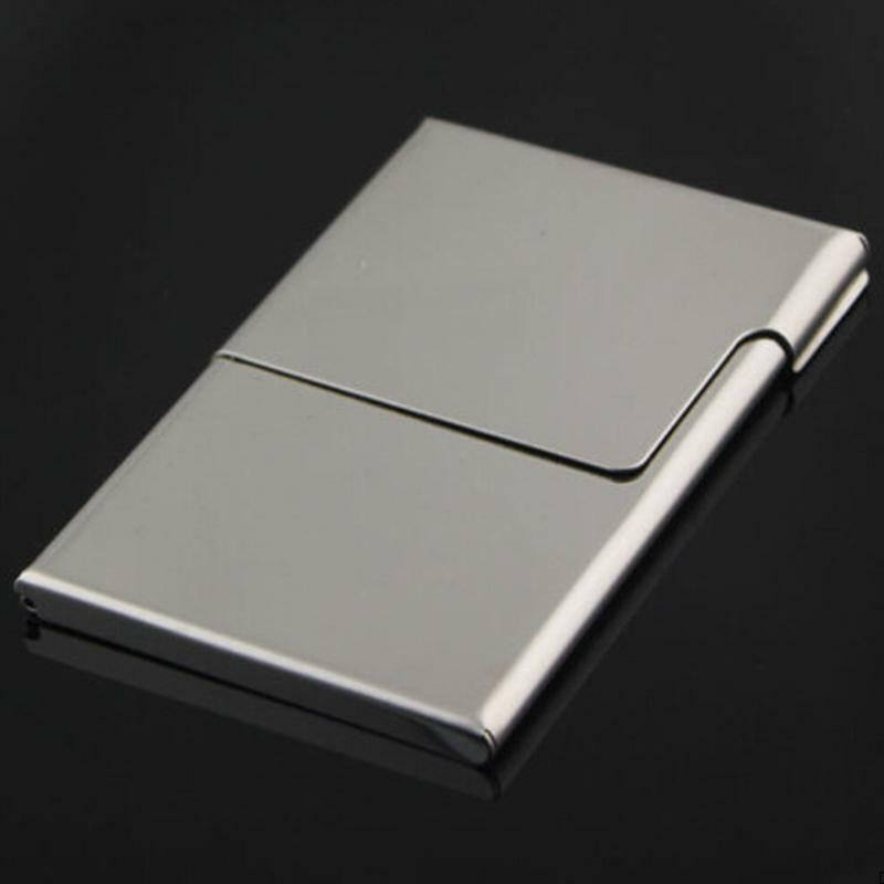 Metal Box Stainless Steel Business Card Holder Credit ID