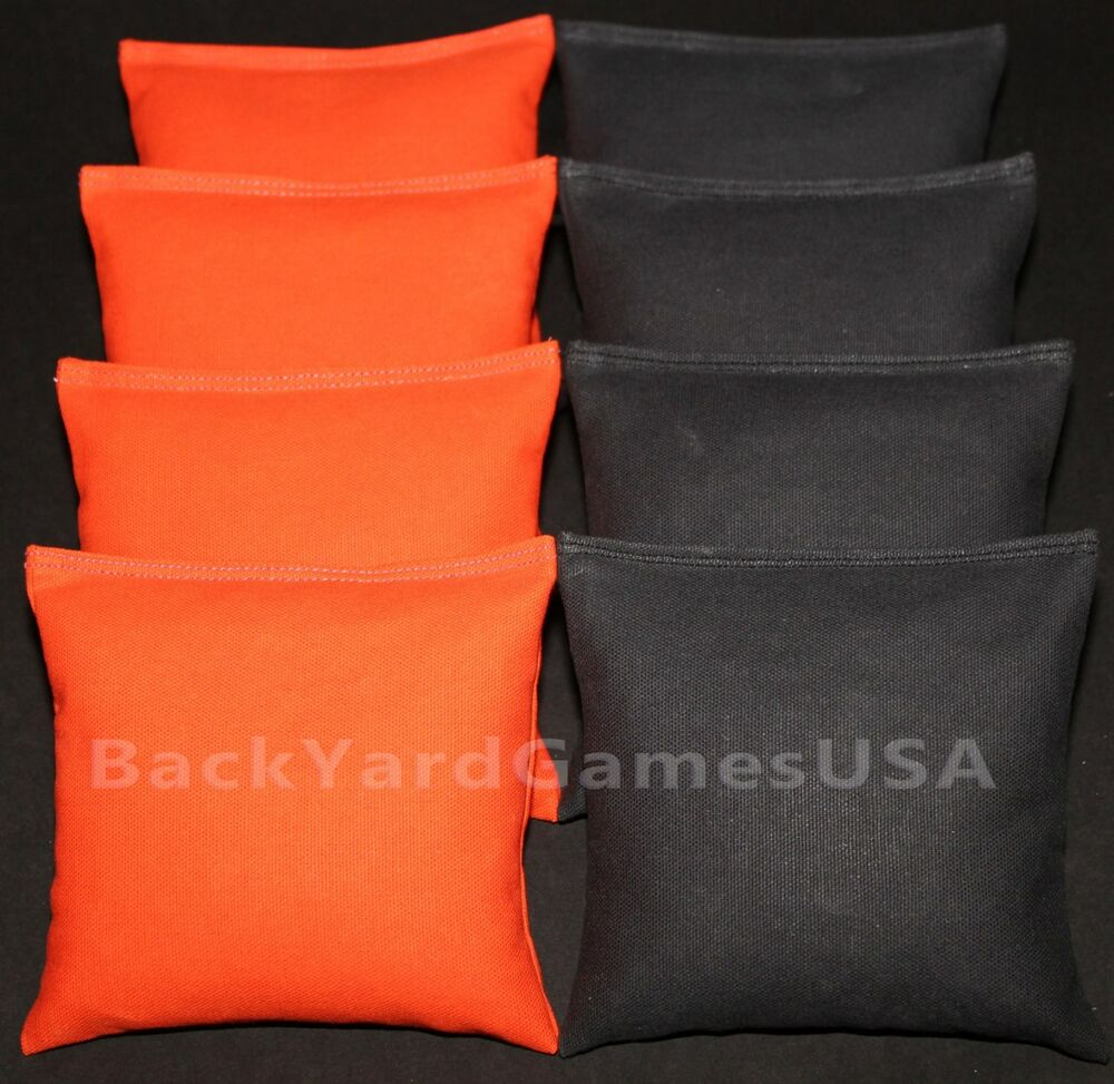 Cornhole Bean Bags Orange Amp Black 8 Aca Regulation Corn