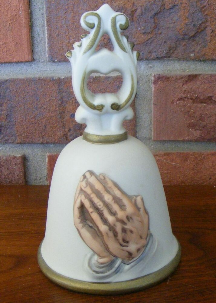 Homco praying hands home interiors bell ebay Home interiors figurines homco