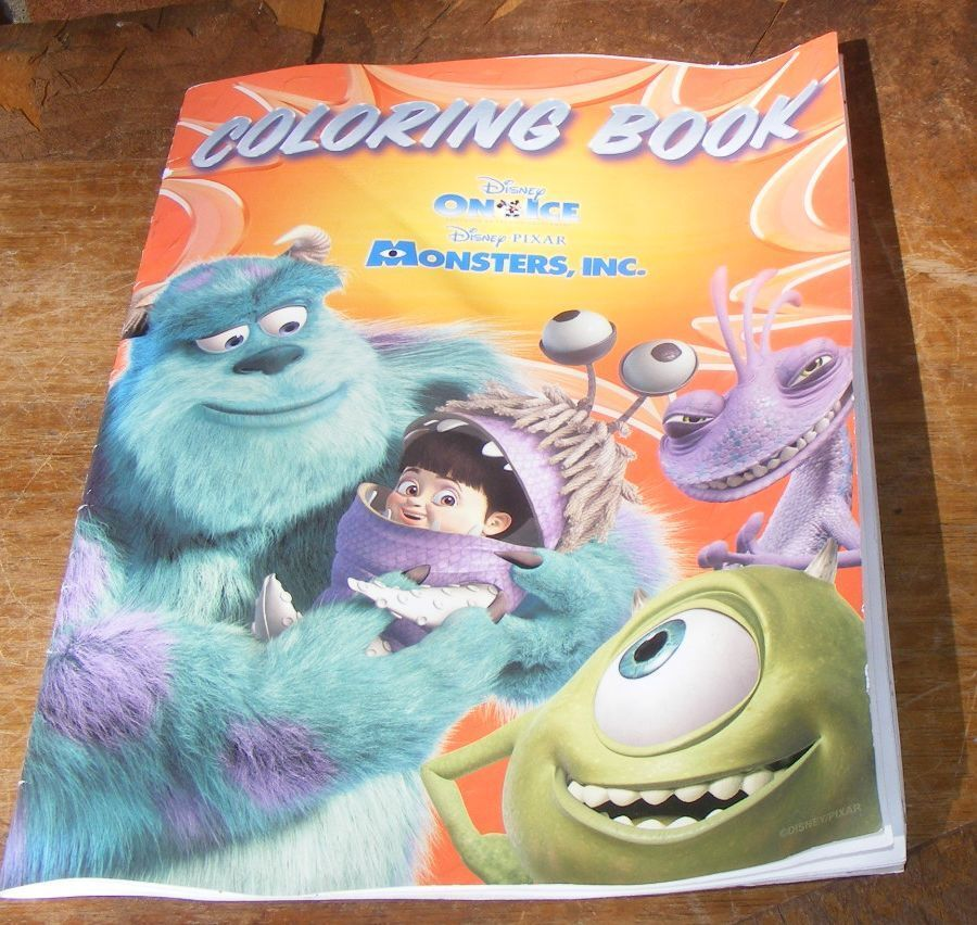 Disney On Ice Monsters Inc Coloring Book Pixar Ebay