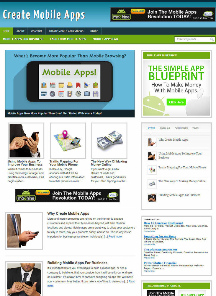 create mobile aps website affiliate store blog with domain hosting ebay. Black Bedroom Furniture Sets. Home Design Ideas