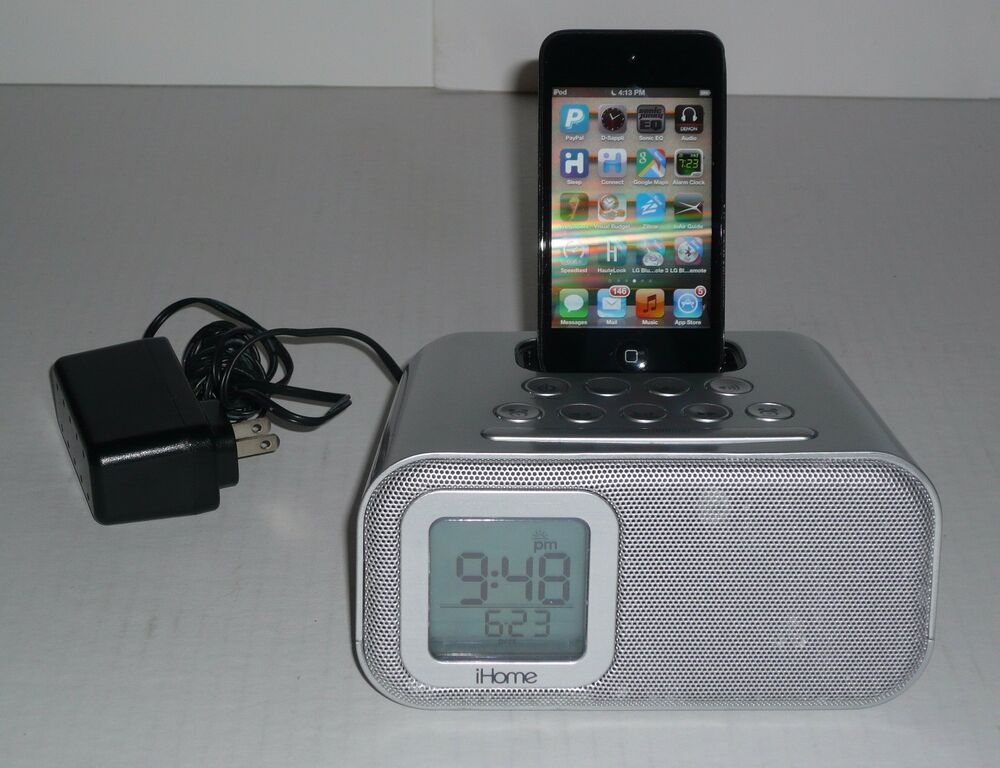 iphone 6 alarm clock ihome ih22 speaker dock and alarm clock for ipod and 14921