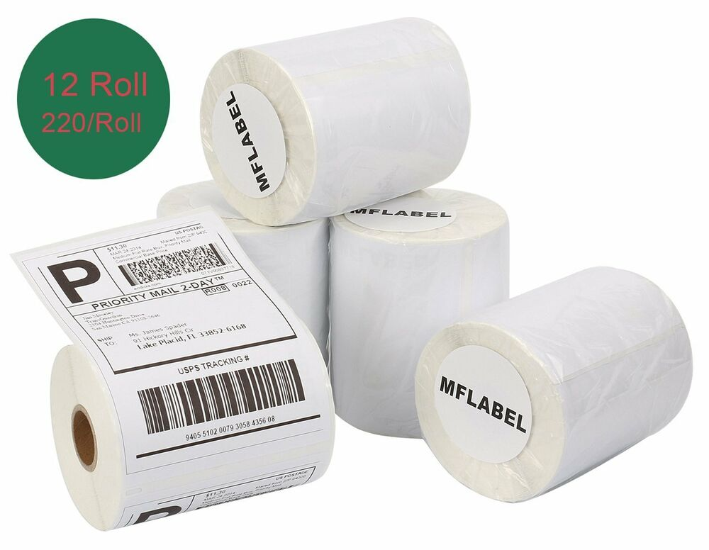 12 rolls 4x6 thermal shipping labels 1744907 compatible for Dymo 4x6 labels