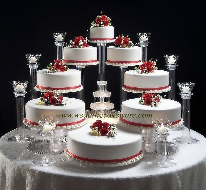 Wedding Cupcake Stands: 8 TIER CASCADING WEDDING CAKE STAND STANDS / 8 TIER CANDLE