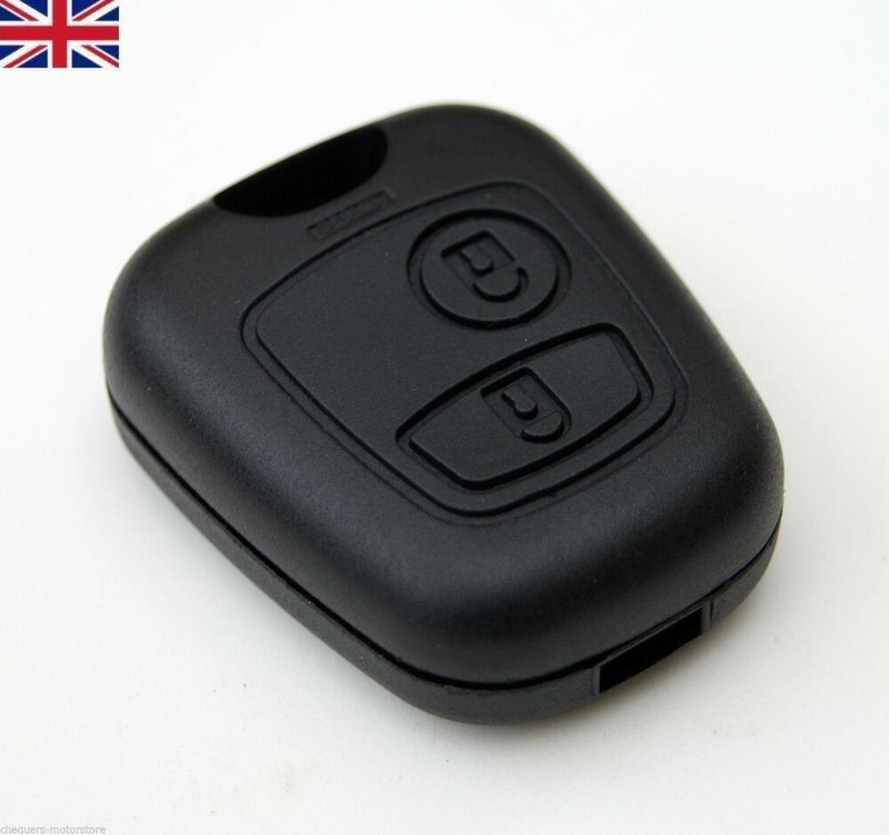 New Peugeot 107 207 407 106 206 2 Button Remote Key Fob