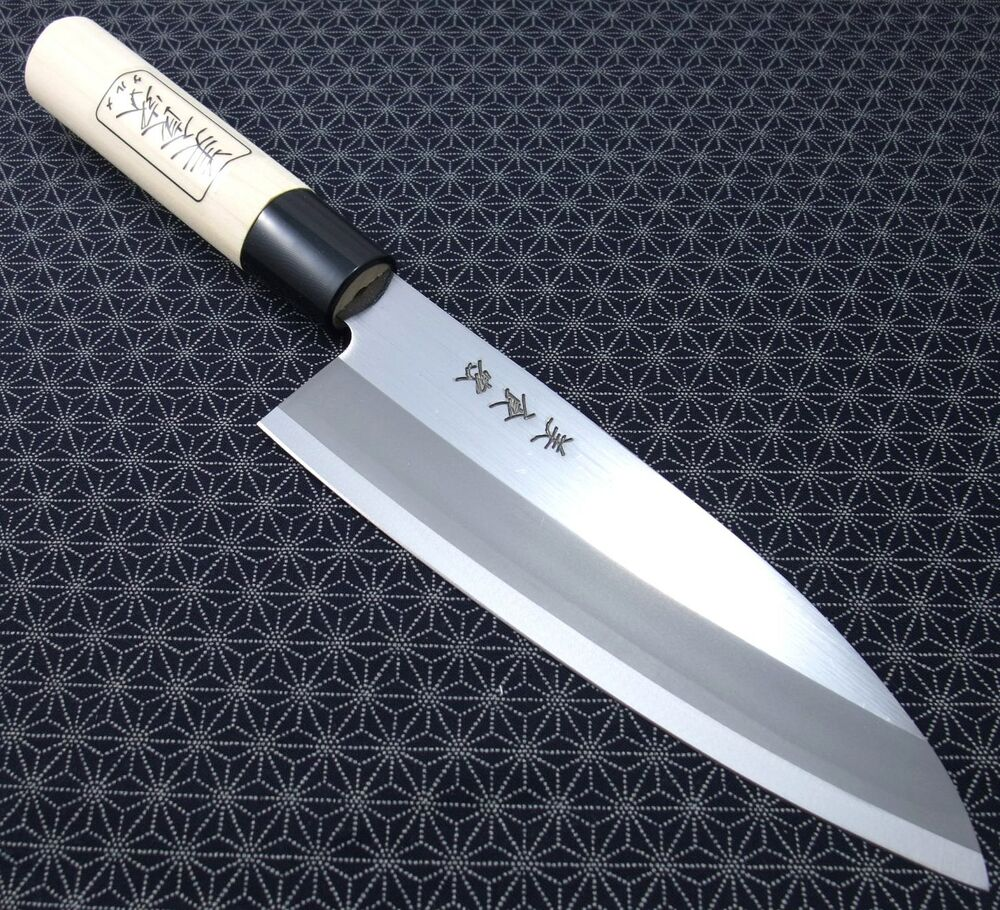 japanese santoku kitchen knife bishokuka gk101 165mm carbon steel made in japan ebay. Black Bedroom Furniture Sets. Home Design Ideas