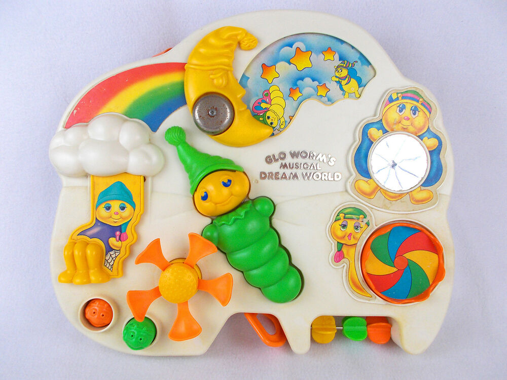 Playskool Musical Toys : Vintage glo worm s musical dream world crib toy