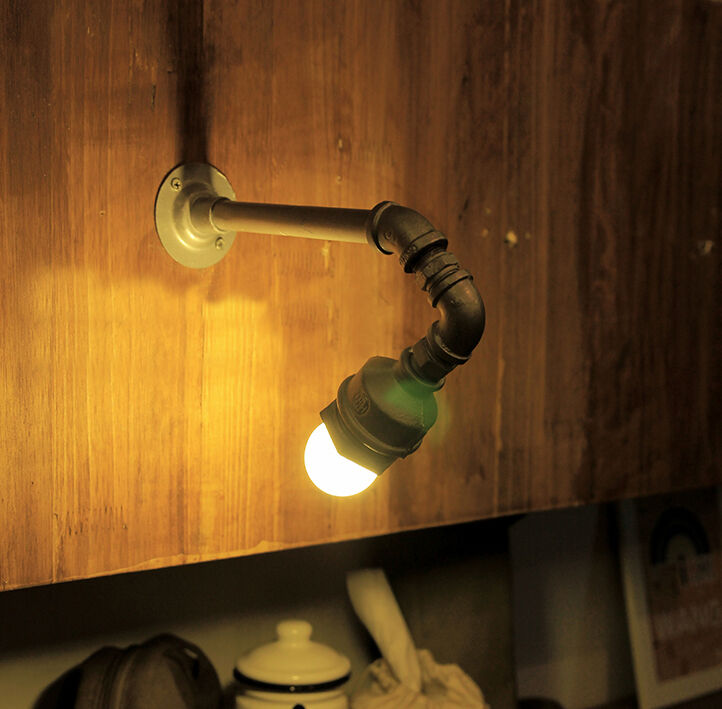 Vintage Style Industrial Edison Wall Light Working Loft