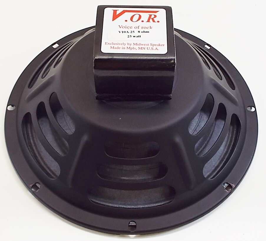 vor 10 alnico magnet 25 watt guitar speaker jensen p10r upgrade 4 ohm new ebay. Black Bedroom Furniture Sets. Home Design Ideas