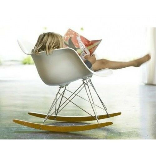 eames style modern rocking chair eames rocker replica ebay. Black Bedroom Furniture Sets. Home Design Ideas