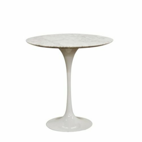 mid century modern saarinen tulip side table replica marble top best