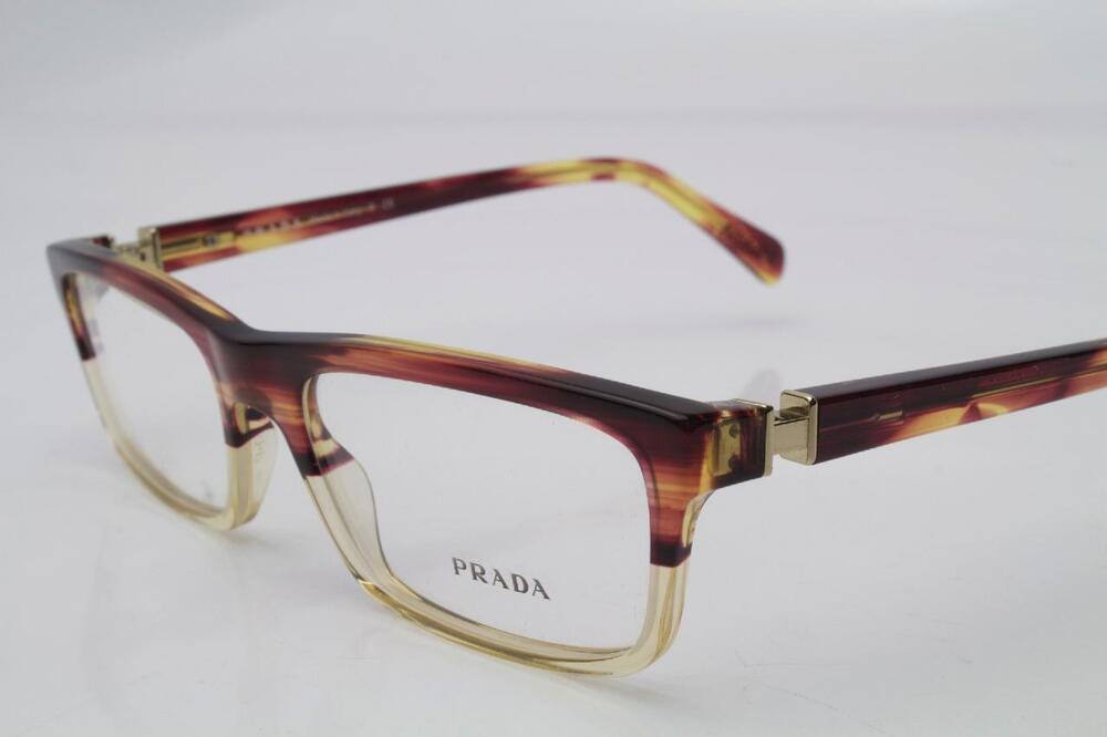 Prada Red Frame Glasses : New Prada VPR06N Eyeglasses Frames Crystal Red Yellow RWX ...