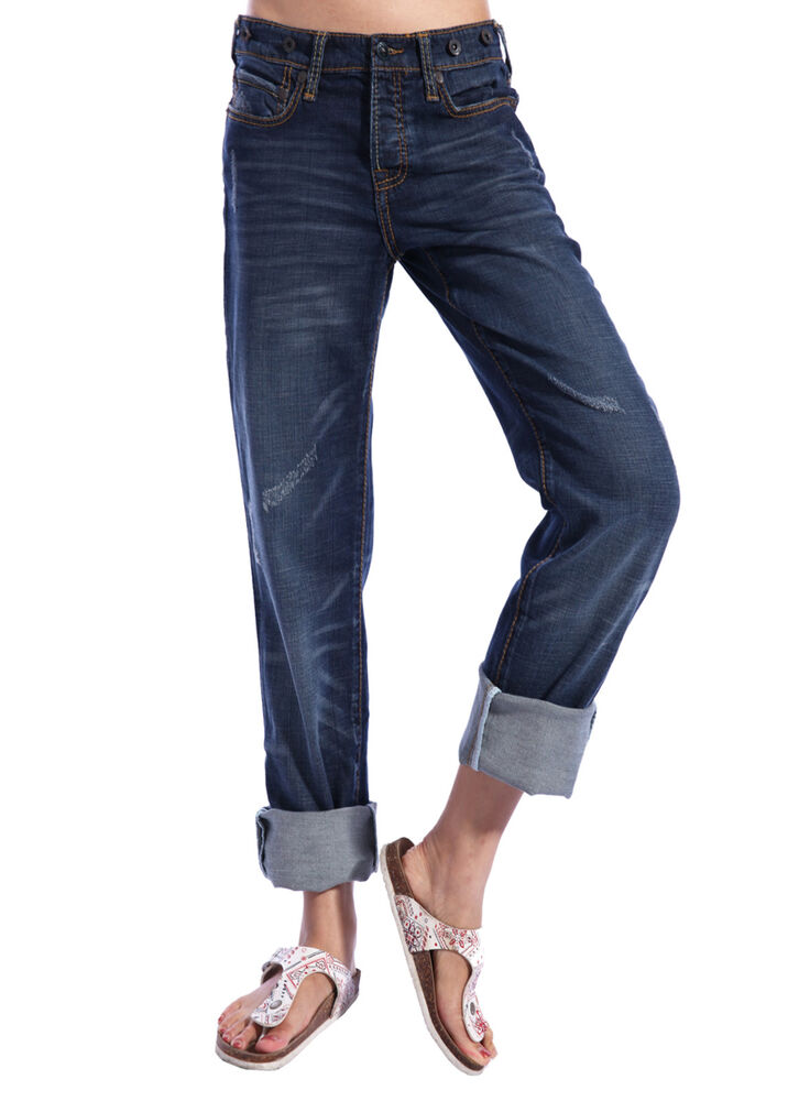 Stitch's Womens Boyfriend Jeans Ladies Relaxed Fit Casual ...