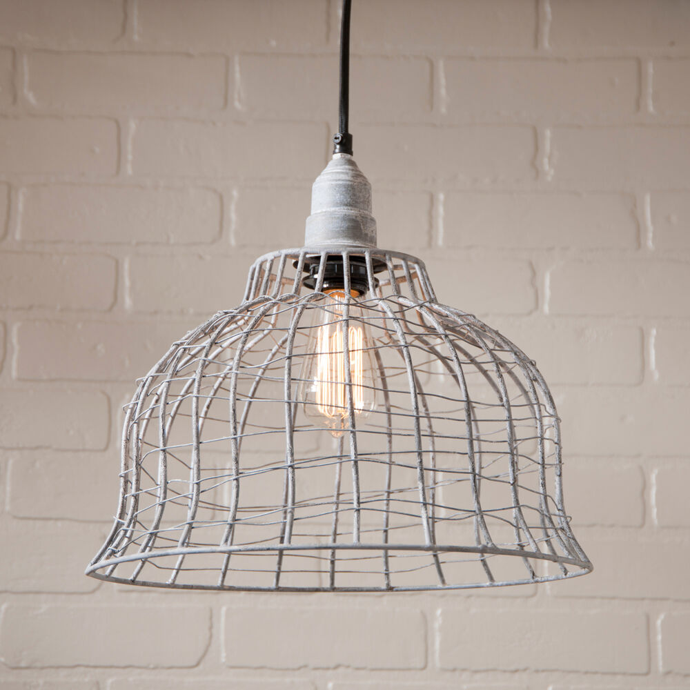 INDUSTRIAL WIRE CAGE PENDANT LAMP Primitive Industrial