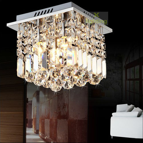 square crystal pendant lamp ceiling light fixture chandelier lighting
