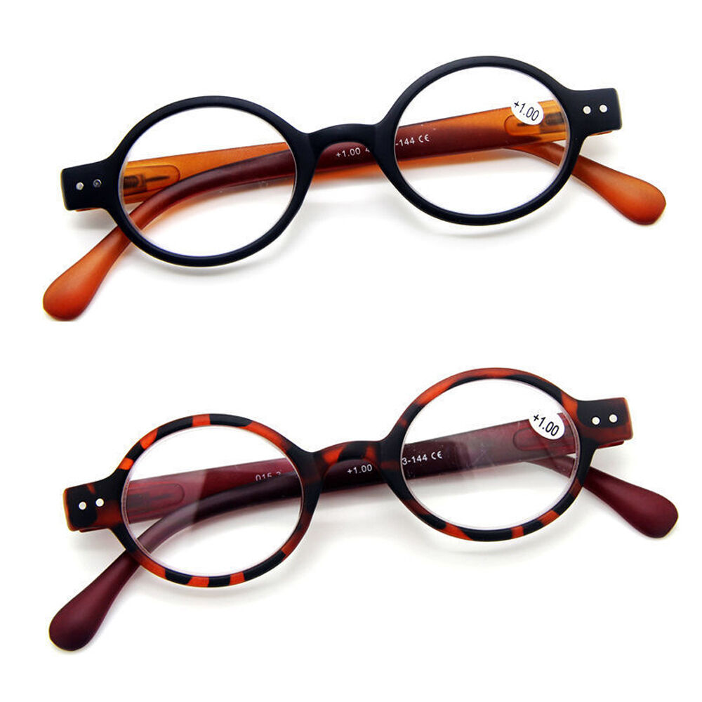 agstum small oval hinge eyeglasses reading