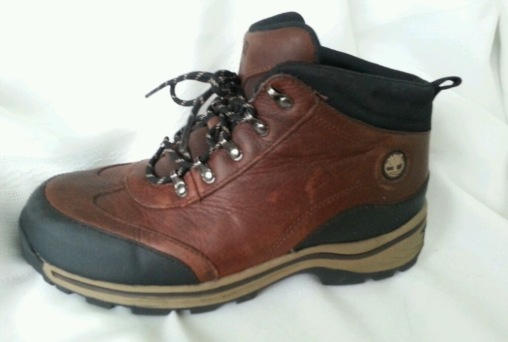 timberland boys ankle boots size 5 5 brown leather
