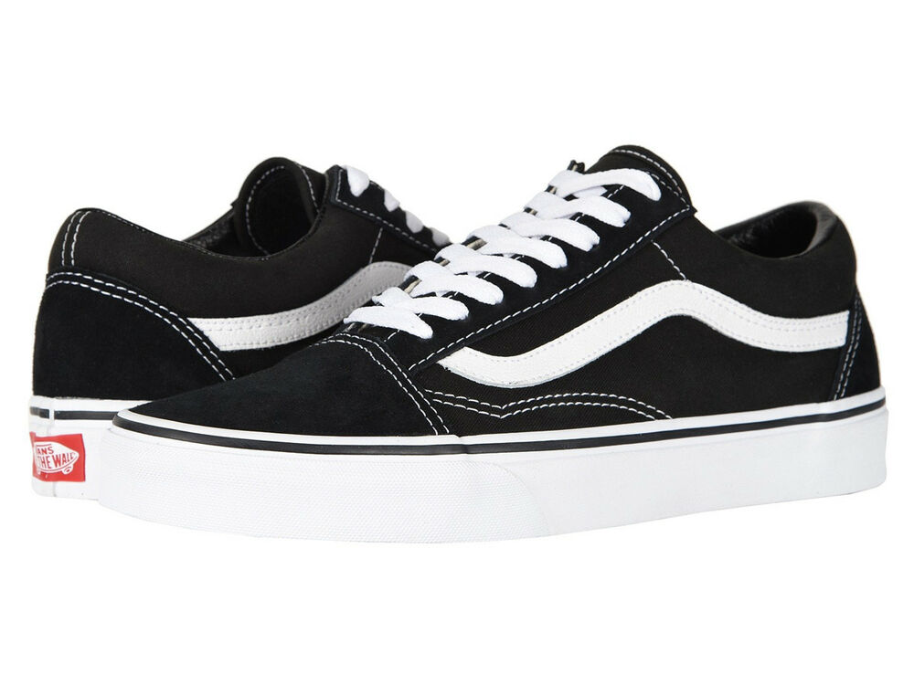 vans old skool black white low suede canvas men women. Black Bedroom Furniture Sets. Home Design Ideas
