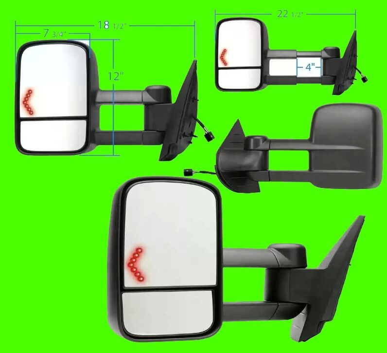 2008 2009 2010 chevy silverado sierra 1500 hd 2500 power signal tow mirror pair ebay. Black Bedroom Furniture Sets. Home Design Ideas