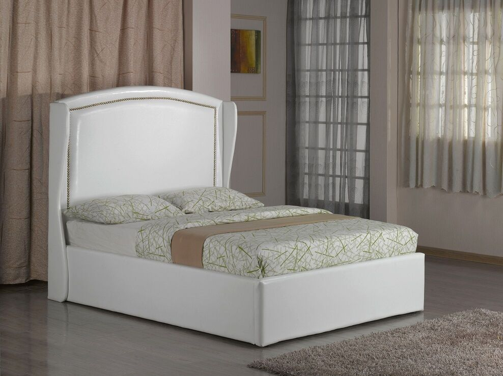 Ottoman storage gas lift up double king size bed and for Double divan bed without headboard