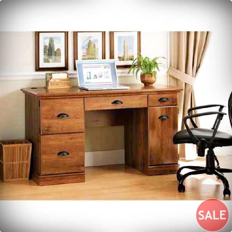 Computer Desk Modern Executive Workstation Wood Furniture Office Home Wooden New Ebay