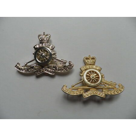img-Royal Artillery Officers / Soldier cap/beret badges New + unissued