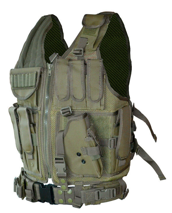 Cross draw vest tactical ideal for hunting fishing for Fishing vest amazon