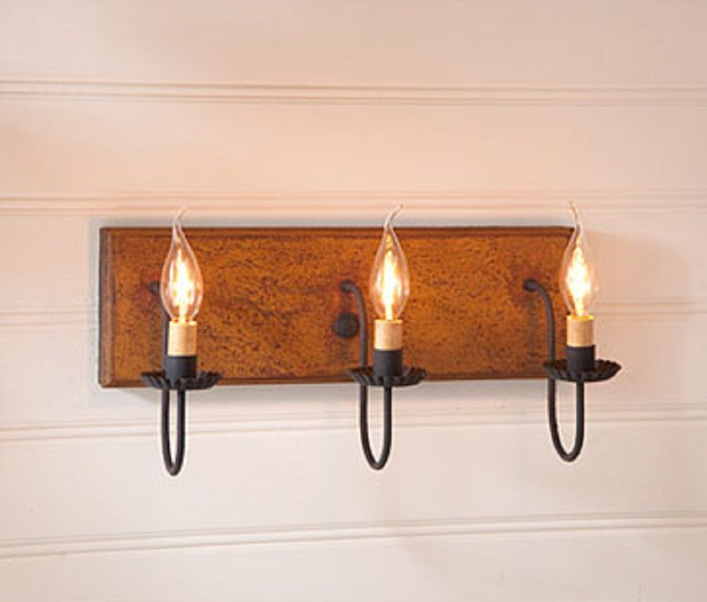 3 arm candelabra vanity light rustic wall fixture in Rustic bathroom vanity light fixtures